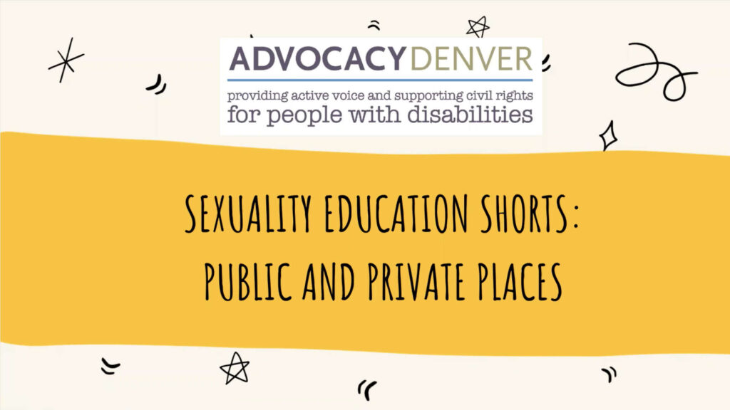 Sexuality Education Shorts: Public and Private Places